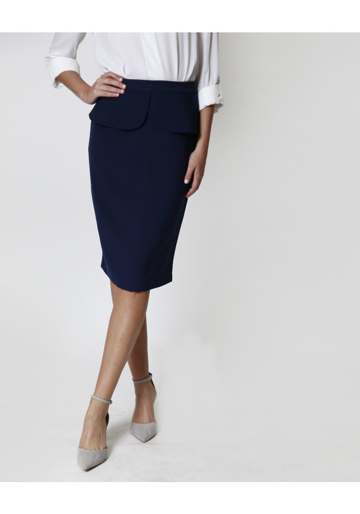 Frill Tie Fitted Skirt [Size: 8]
