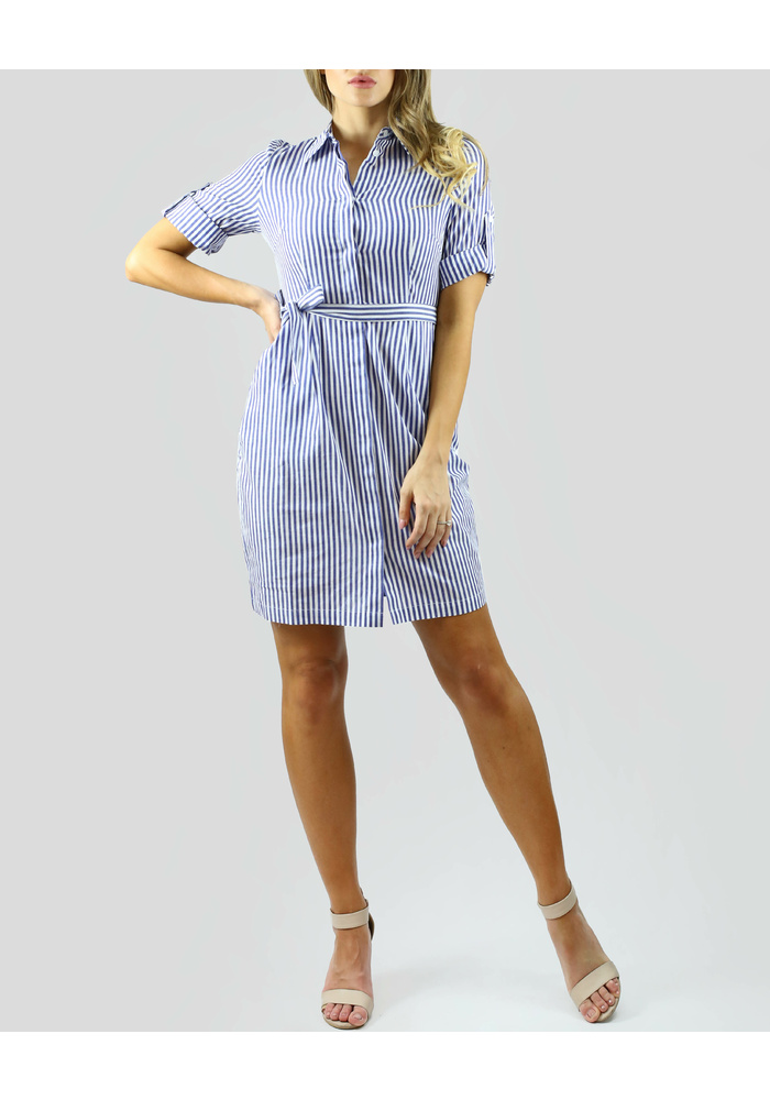 3713ee7f739e SHIRT COLLAR STRIPE DRESS SHIRT COLLAR STRIPE DRESS