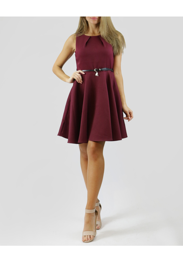 Flare Dress With Belt