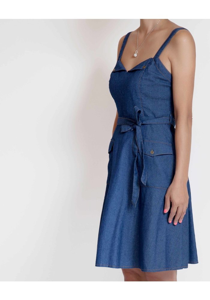 SWEETHEART DENIM DRESS