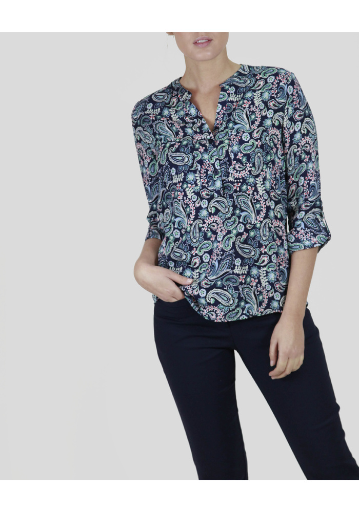 PSLY PRINT 2POCKETS SHIRT