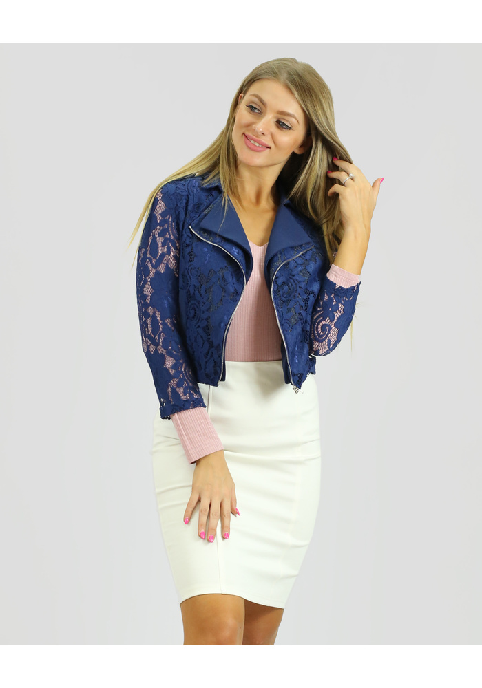 Double Zip Lace Jacket