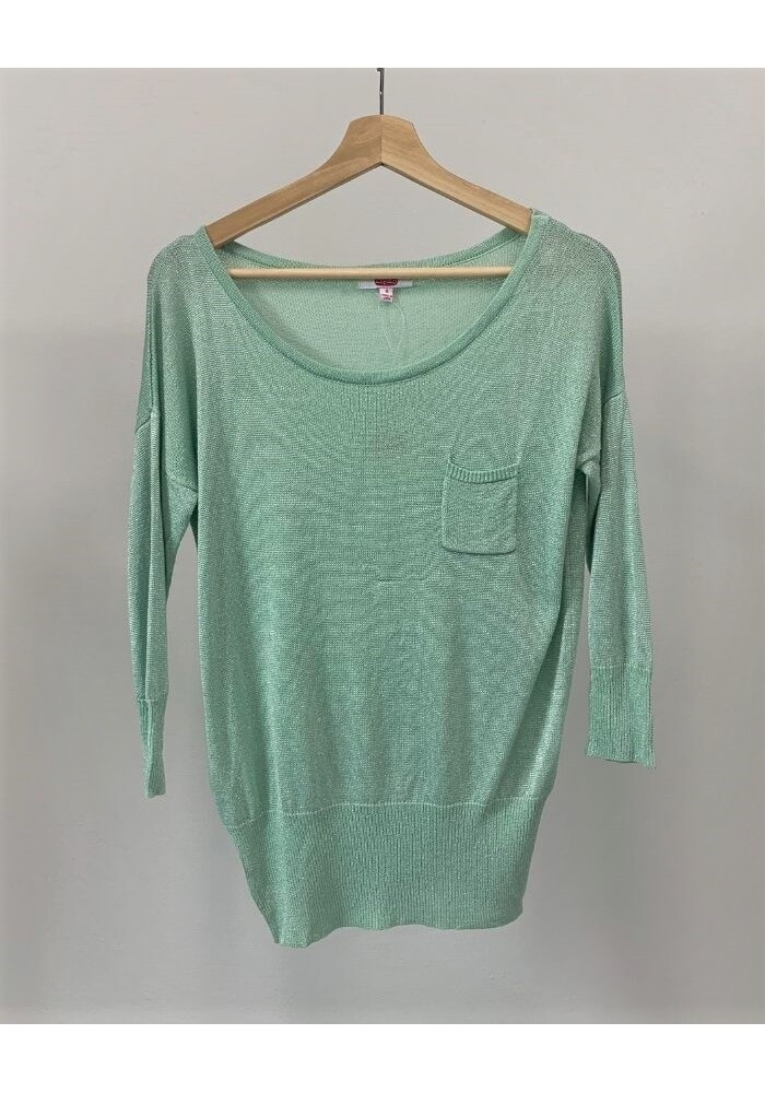3q Lurex Knit Top