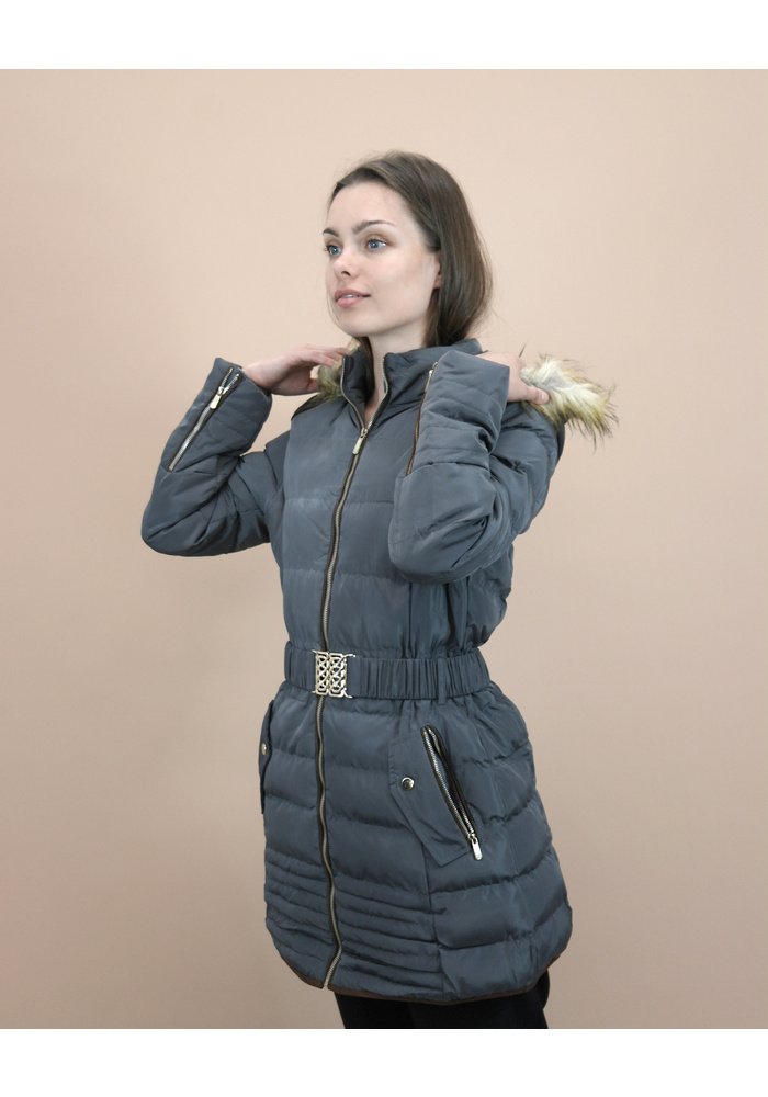 Padded Button Pocket Long Jacket