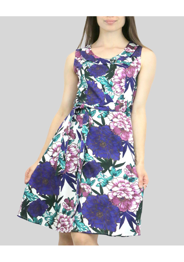 Print Dress [Navy] [size: 08]