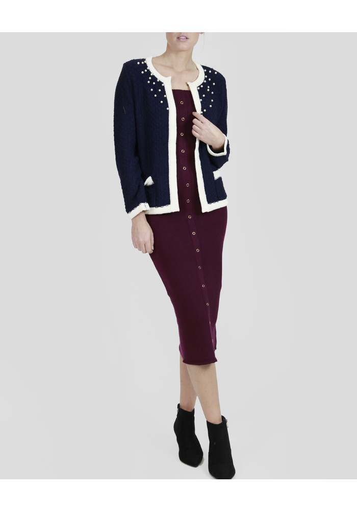 BEADED KNIT JACKET