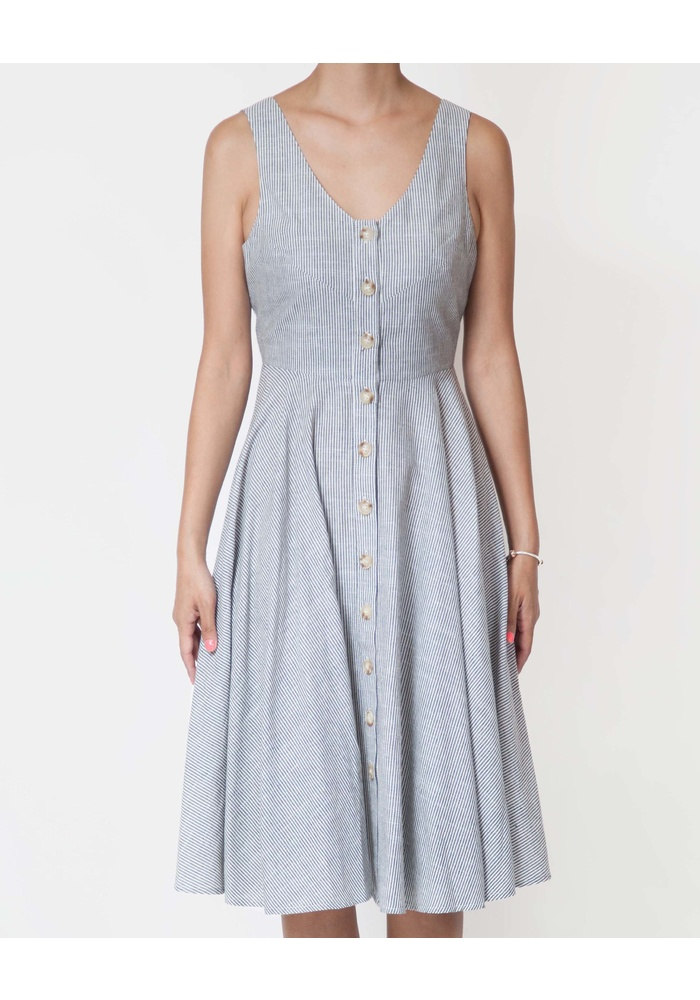 PINSTRIPE PICNIC DRESS