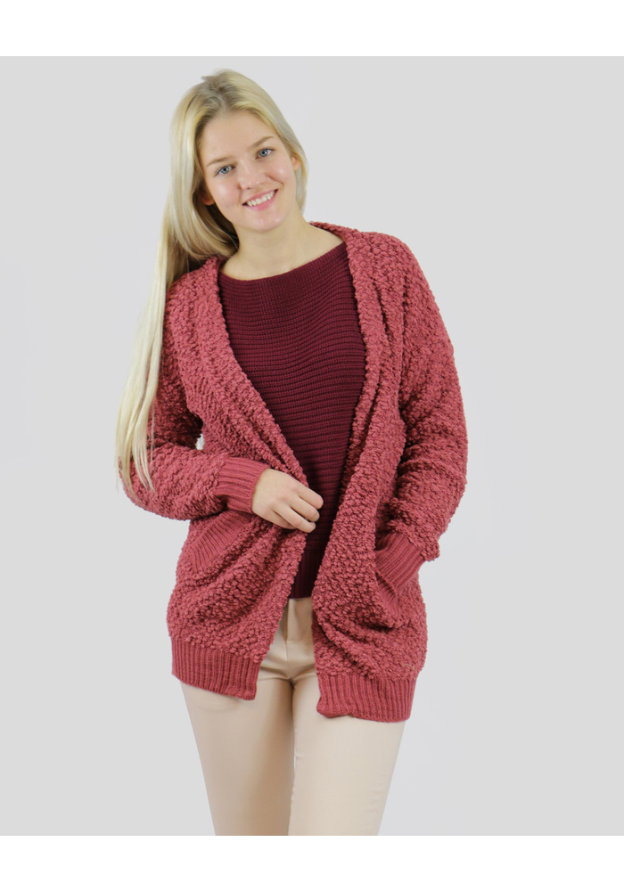 CHUNKY OPEN KNIT CARDIGAN