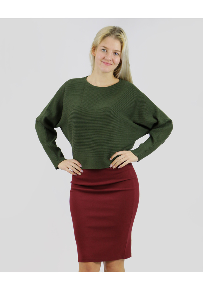 HORIZONTAL RIBBED KNIT TOP