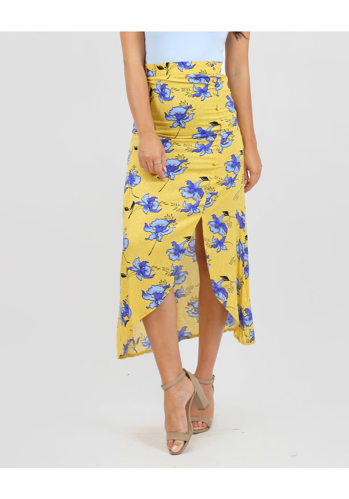 Side Button Detall Maxi Skirt