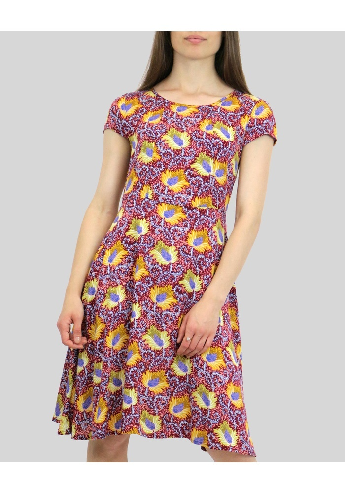 Keyhole Detail Print Dress