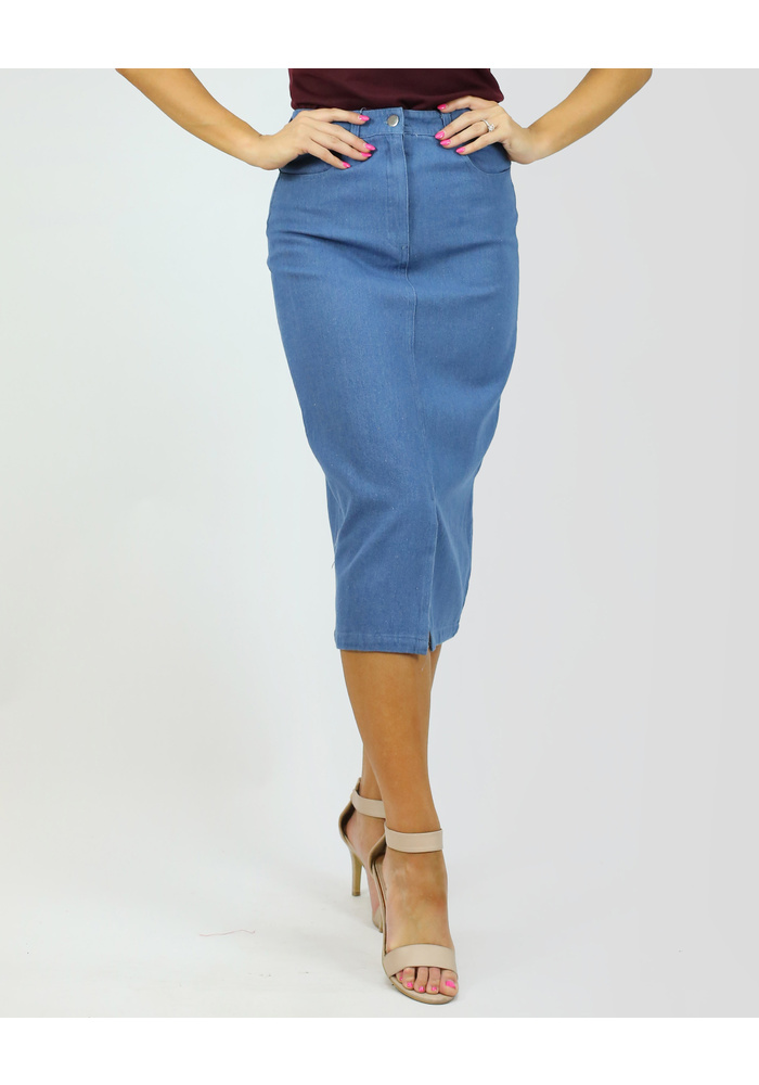 Denim Middle Skirt
