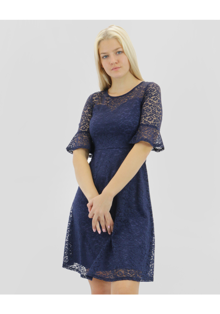Bell Sleeve Lace Dress [size: 08]
