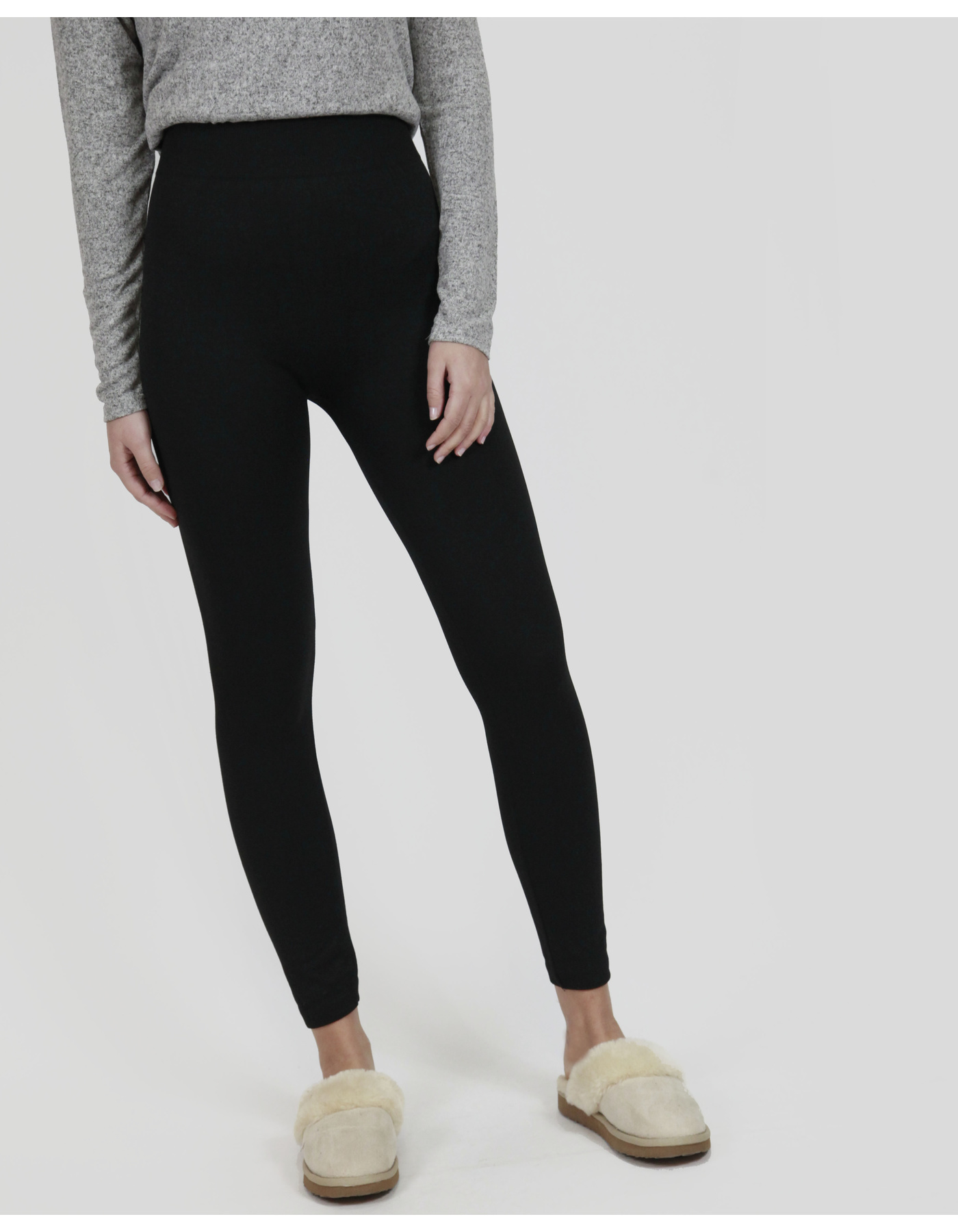 PLUSH LEGGINGS [COLOUR: BLACK] [SIZE: 8]